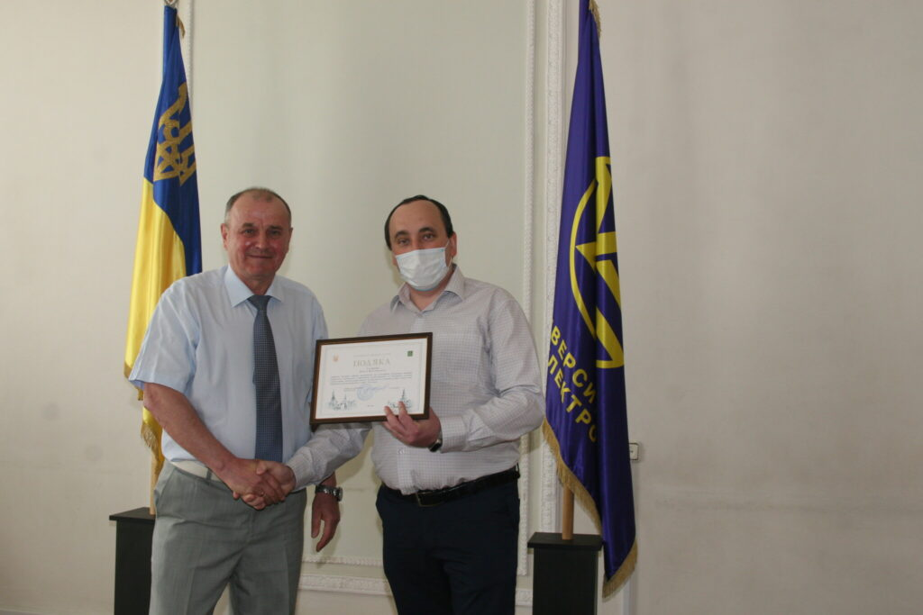 Galkin Pavlo, a senior lecturer at the DOED department, received a letter of thanks from the City Council of Kharkiv